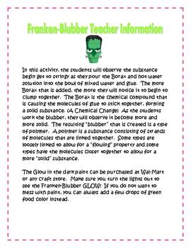 Halloween Science: Franken - Blubber