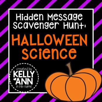 Halloween Science Hidden Message Scavenger Hunt {Great for life science!}