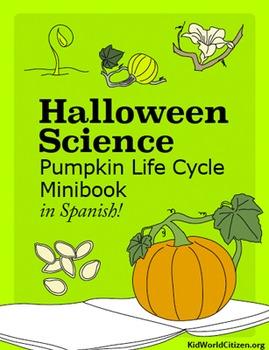 Halloween Science: Pumpkin Life Cycle Minibook in Spanish