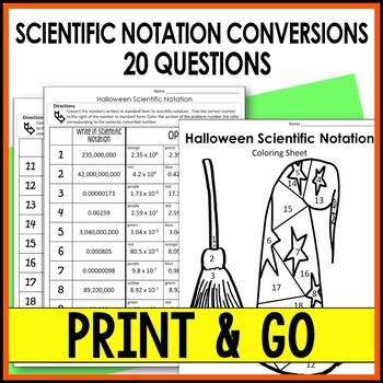 Halloween Math Activity Scientific Notation