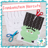 Halloween Scissor Skills Haircut Worksheets