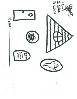 Halloween Scissor and Shape Skill worksheet