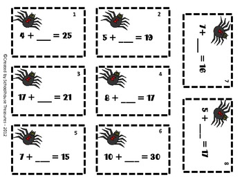 Halloween Scoot - 4 Math Games in One Set!
