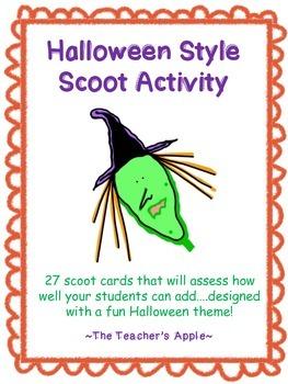 Halloween Scoot Activity - Addition