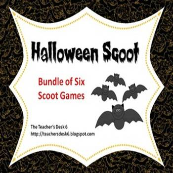 Halloween Scoot BUNDLE of Six Scoot Activities