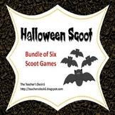 Halloween Scoot BUNDLE of Six Scoot Activities