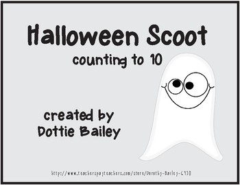 Halloween Scoot - Counting through 10