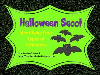 Halloween Scoot Declarative, Interrogative, Exclamatory, a