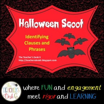 Halloween Scoot Identifying Clauses and Phrases