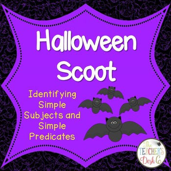Halloween Scoot Identifying Simple Subjects and Simple Predicates