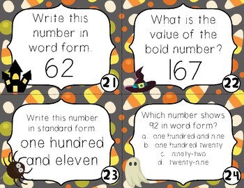 Halloween Scoot - Reading and Writing Numbers