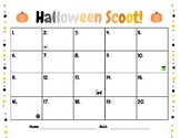Halloween Scoot Recording Sheet