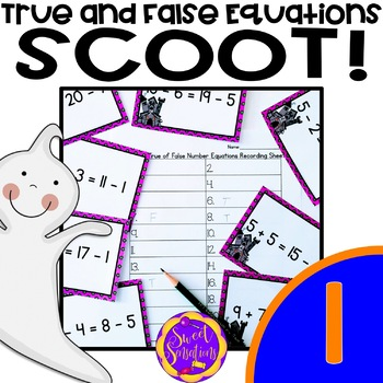 Halloween Math Scoot! True or False Comparing Equations (1.OA.D7)