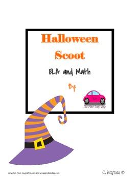 Halloween Scoot math and ELA