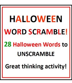 Halloween Word Scramble!