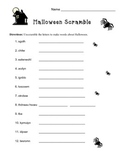 Halloween Scramble and Sentence Writing