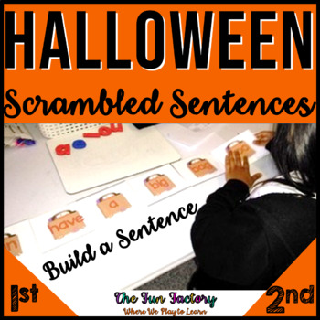 Halloween Literacy Centers ~ Scrambled Sentences & Build a Sentence Grades 1-2