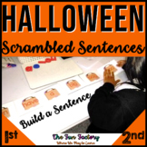 Halloween Center Activity  Scrambled Sentences and Build a