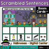 Halloween Scrambled Sentences - Boom Cards - Digital Dista