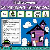 Halloween Scrambled Sentences Center