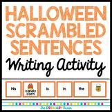 Halloween Scrambled Sentences Writing Formation Activity