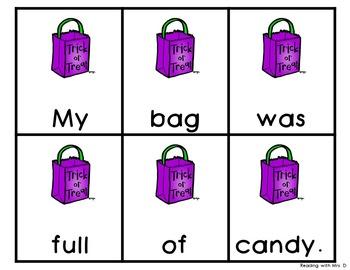 Halloween Scrambled Sentences and Recording Sheets