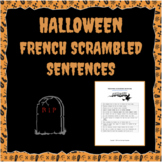 Halloween Scrambled Sentences in French