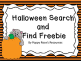 Halloween Search and Find Freebie