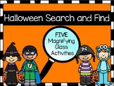 Halloween Word Search: Magnifying Glass Activity