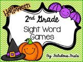 Halloween Second Grade Sight Word Games