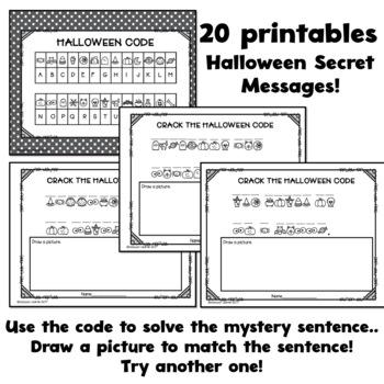 Halloween Secret Code Activities