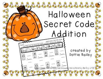Halloween Secret Code Addition