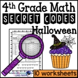 Halloween Secret Code Math Worksheets 4th Grade Common Core
