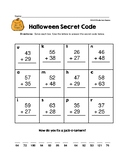 Halloween Secret Code Puzzle - 2 Digit Addition With Regrouping