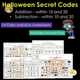 Halloween Secret Codes - Addition and Subtraction Worksheets