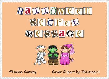 halloween secret message by d conway teachers pay teachers