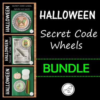 Halloween - Secret Message Code Wheels  -  BUNDLE
