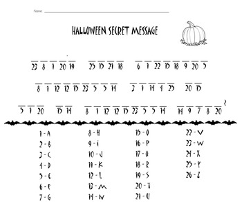 Halloween Secret Message Decoder {Worksheet}