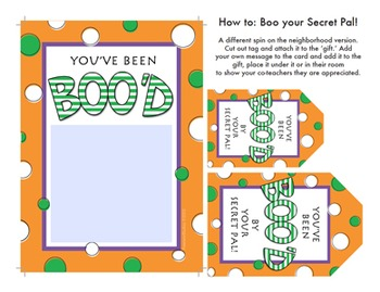 Halloween Secret Pal BOO! (Editable)