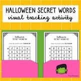 Halloween Secret Words - Visual Tracking Activity