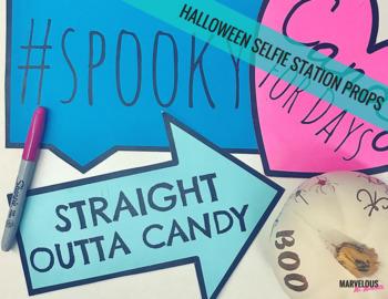 Halloween Selfie Station Props