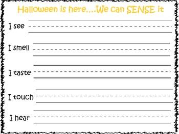 Halloween Senses Poem/Project