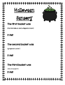Halloween Sensory Activity Worksheets