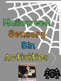 Halloween Sensory Bin Activities