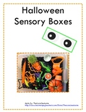 FREEBIE!  Halloween Sensory Boxes for Pre-K Students and K