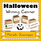 Halloween Literacy Center (Sensory Play and Writing Response)