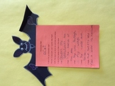 Halloween Sensory Details Bat Poem Project
