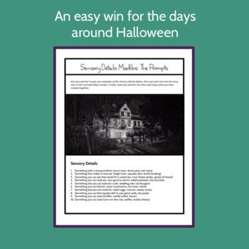 Halloween Creative Writing: Sensory Details Mad-libs