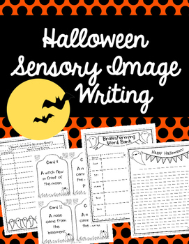 Halloween Sensory Image Writing Activity
