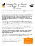 Halloween Sensory Processing Tips